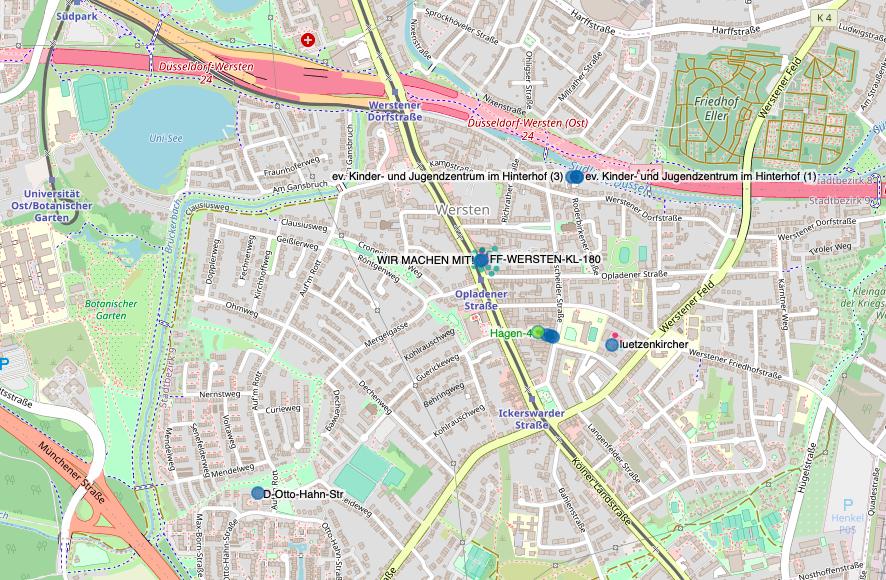 Karte Freifunk Wersten